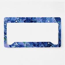 Blue Hydrangea Flowers License Plate Holder