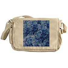 Blue Hydrangea Flowers Messenger Bag