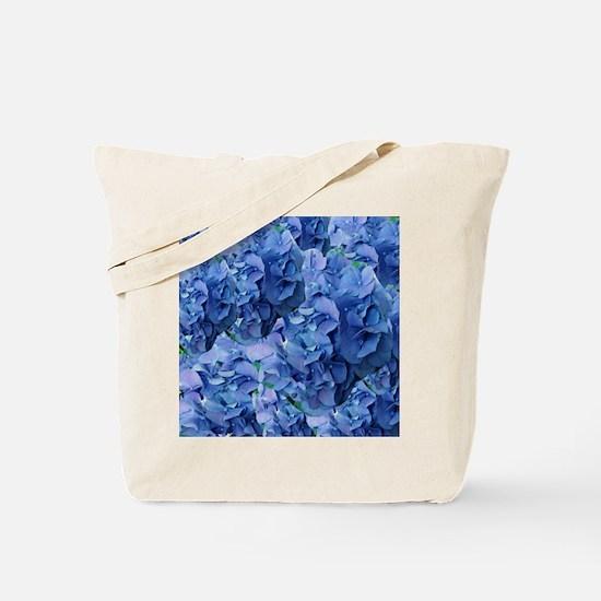 Blue Hydrangea Flowers Tote Bag