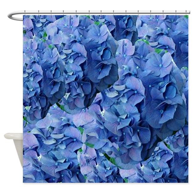 Blue Hydrangea Flowers Shower Curtain By Hopeshappyhome