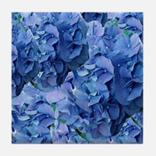 Blue Hydrangea Flowers Tile Coaster
