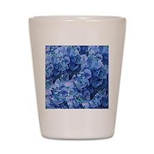 Blue Hydrangea Flowers Shot Glass