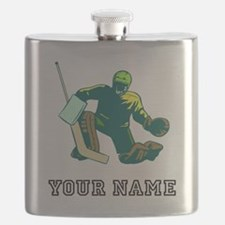 Hockey Goalie (Custom) Flask