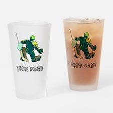 Hockey Goalie (Custom) Drinking Glass