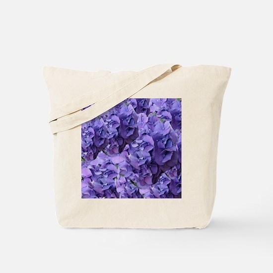 Purple Hydrangea Flowers Tote Bag