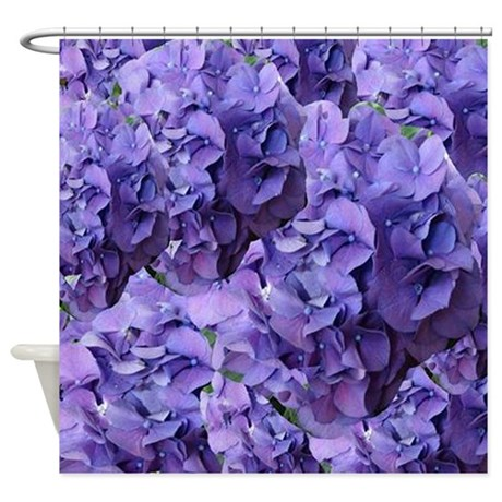 Purple Hydrangea Flowers Shower Curtain By Hopeshappyhome