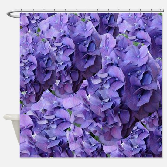Purple Hydrangea Flowers Shower Curtain