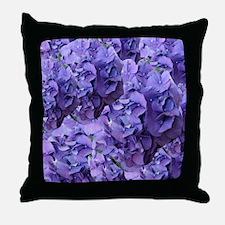 Purple Hydrangea Flowers Throw Pillow
