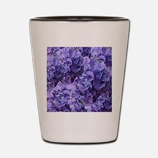 Purple Hydrangea Flowers Shot Glass