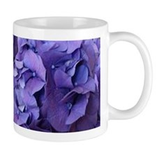 Purple Hydrangea Flowers Mugs