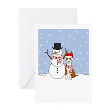 Ibizan Hound Holiday Greeting Card