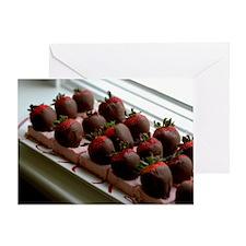 chocolatedip strawberrie Greeting Card