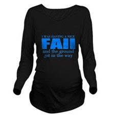 Funny accident Long Sleeve Maternity T-Shirt