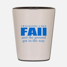 Funny accident Shot Glass