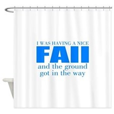 Funny accident Shower Curtain