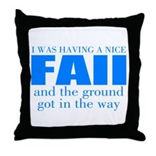 Funny accident Throw Pillow
