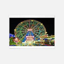 Coney Island's wonderous Wonder Whe 5'x7'Area Rug