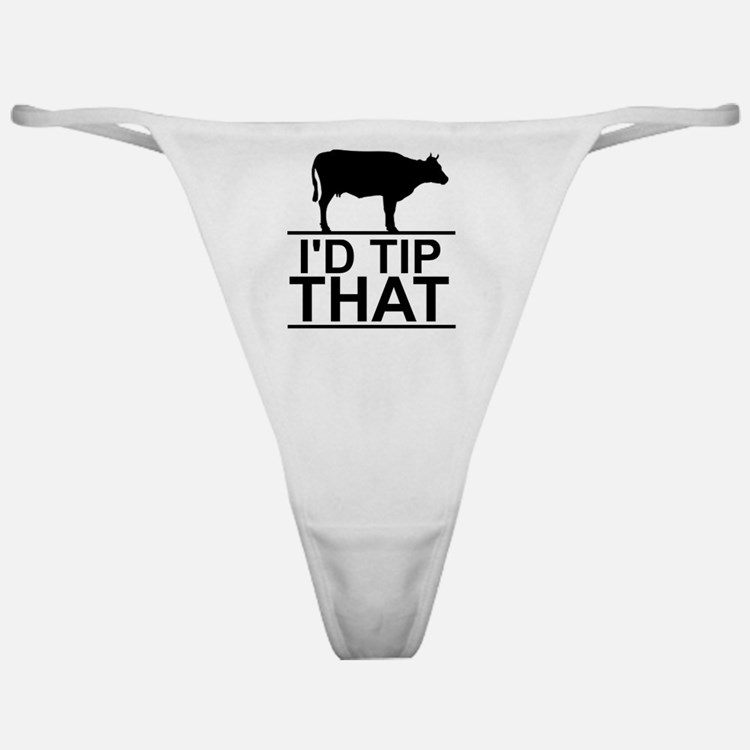 Cute Cow tipping Classic Thong