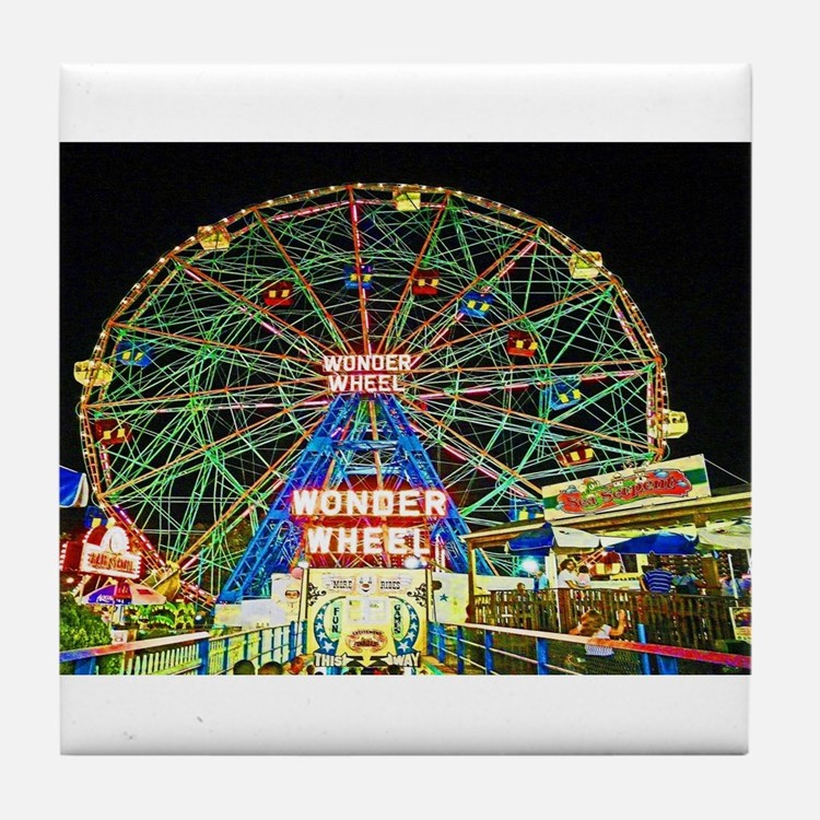 Coney Island's wonderous Wonder Wheel Tile Coaster