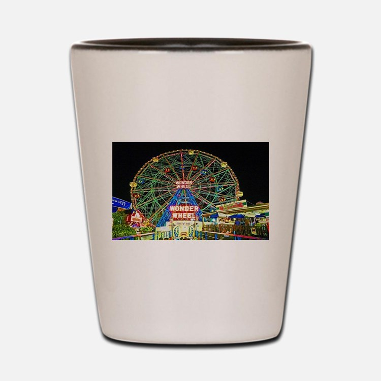 Coney Island's wonderous Wonder Wheel Shot Glass