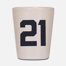 21 21st Birthday 21 Years Old Shot Glass