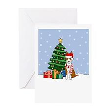 Ibizan Hound Christmas Greeting Card