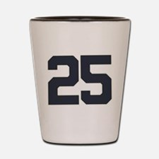 25 25th Birthday 25 Years Old Shot Glass