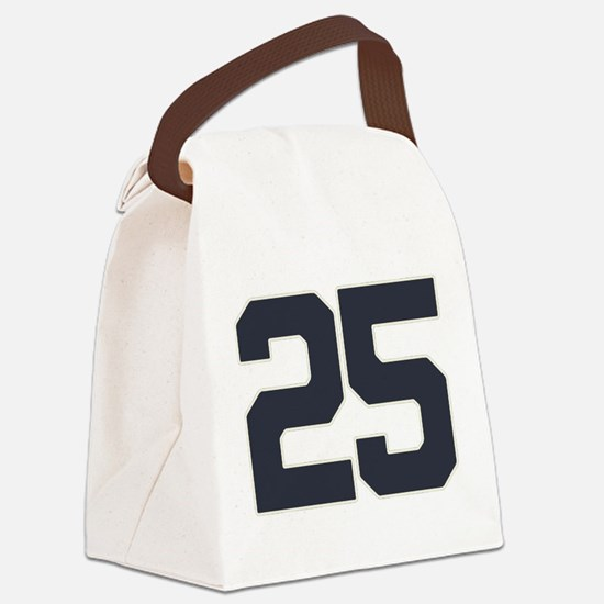 25 25th Birthday 25 Years Old Canvas Lunch Bag