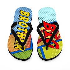 Big Brother Superhero Flip Flops