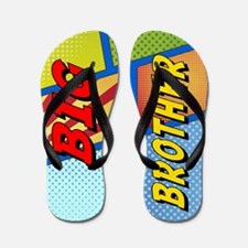 Big Brother Superhero Flip Flops