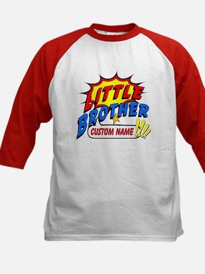 Little Brother Superhero Kids Baseball Jersey