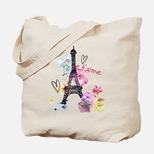 Cute Eiffel tower Tote Bag