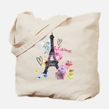 Cute Paris Tote Bag