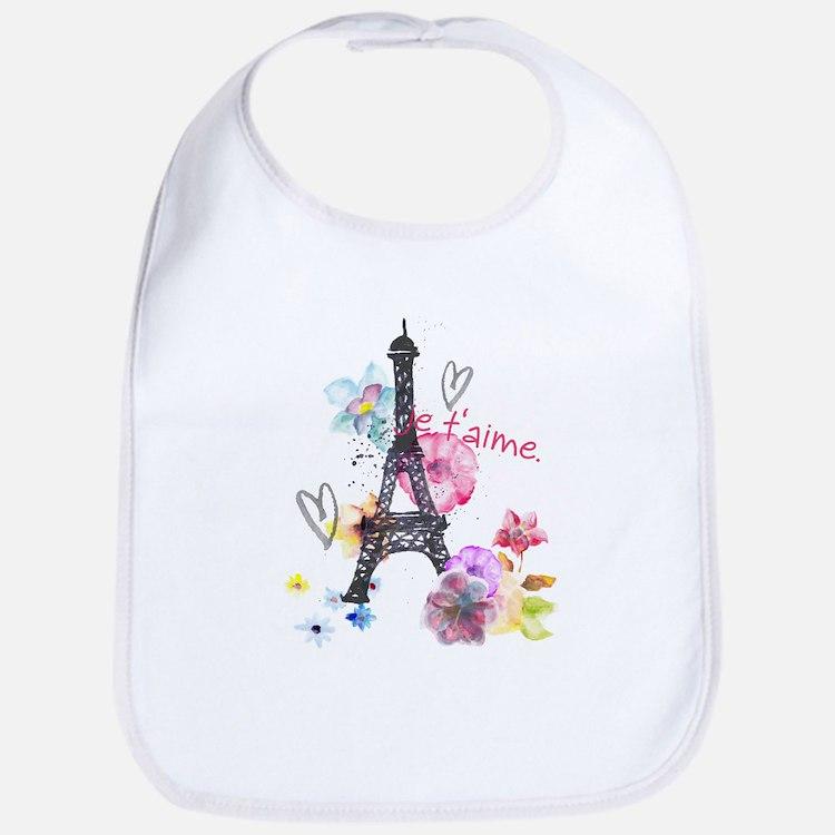 Cute Eiffel tower kids Bib