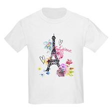 Cute Kids eiffel tower girls T-Shirt
