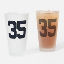 35 35th Birthday 35 Years Old Drinking Glass