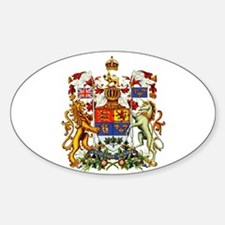 Canadian Royal Coat of Arms Sticker (Oval)