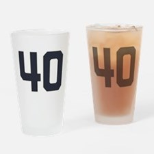 40 40th Birthday 40 Years Old Drinking Glass