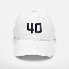 40 40th Birthday 40 Years Old Baseball Baseball Cap