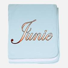 Gold Junie baby blanket