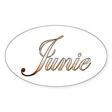 Gold Junie Decal