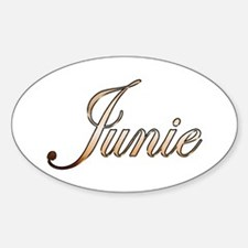 Gold Junie Decal