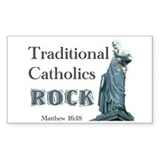 Trads Rock Rectangle Decal