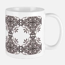 Red lace medallion Mugs
