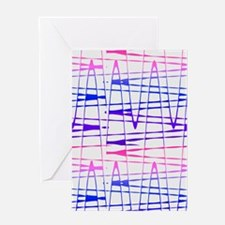 Abstract Serendipity Blue Pink for Greeting Cards