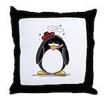 Feeling Ill Penguin Throw Pillow