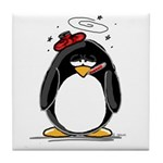 Feeling Ill Penguin Tile Coaster
