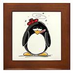Feeling Ill Penguin Framed Tile