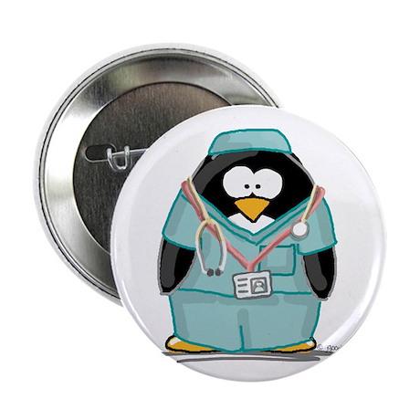 Surgeon Penguin Button