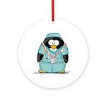 Surgeon Penguin Ornament (Round)